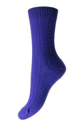 Ladies Cashmere Socks - Deep Purple